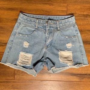 Pants - Vintage Look Jean Shorts